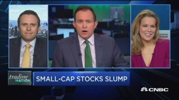 Trading Nation: Small-cap stocks slump