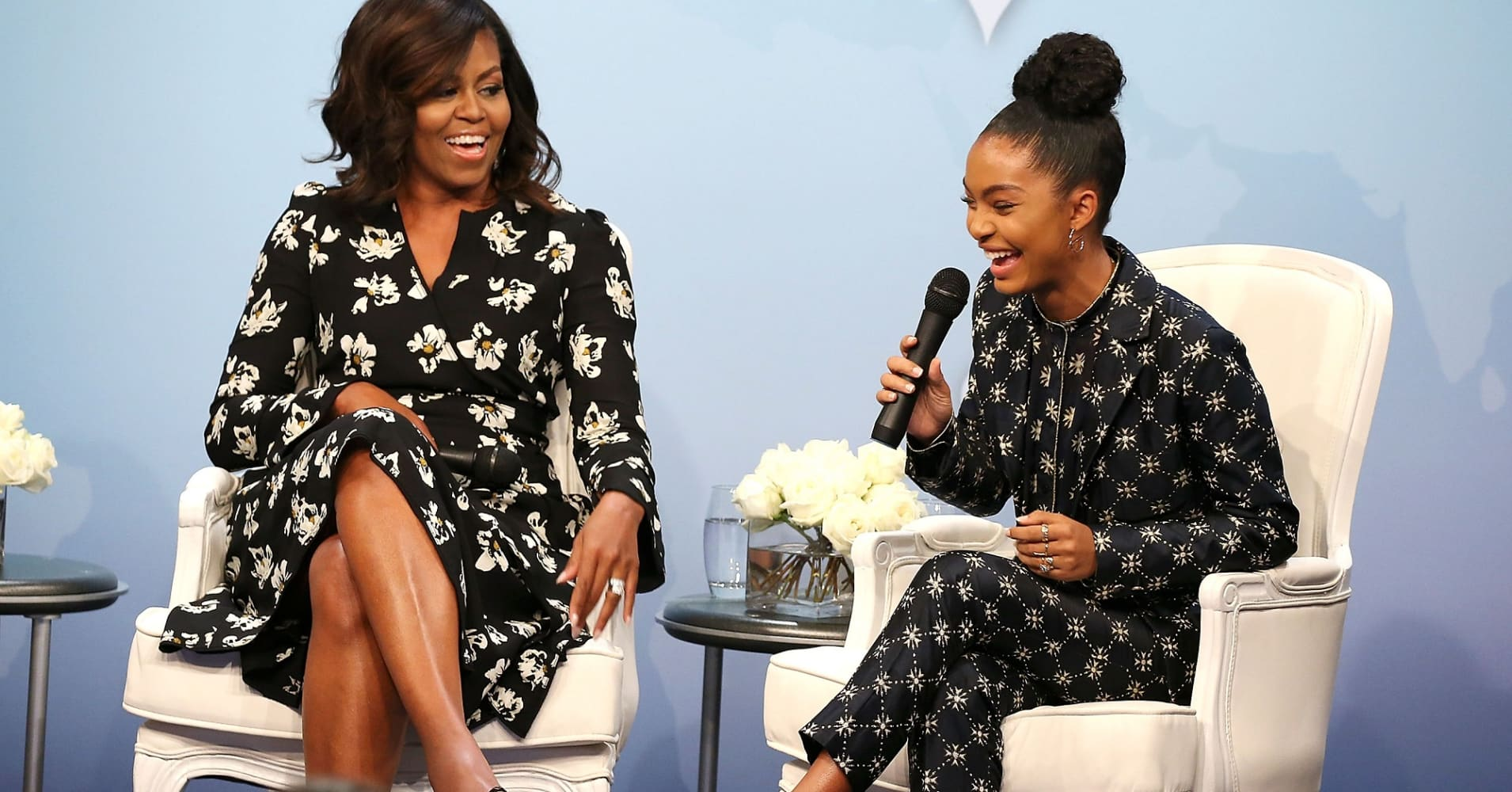 Michelle Obama and Yara Shahidi participate in panel discussion at Glamour Hosts 'A Brighter Future: A Global Conversation on Girls' Education.'