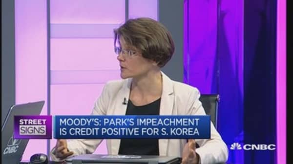 Impeachment credit-positive for South Korea: Moody's