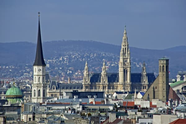 A view over the Austrian capital of Vienna.