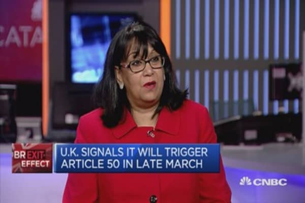 Up to UK PM to trigger Article 50: Baroness Verma