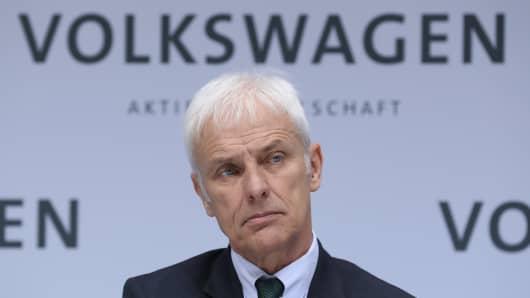 Matthias Mueller, Chairman of German automaker Volkswagen AG