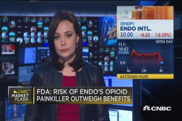 FDA: Risk of Endo's opioid painkiller outweigh benefits
