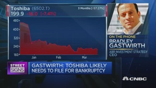 Toshiba could file for bankruptcy: Expert