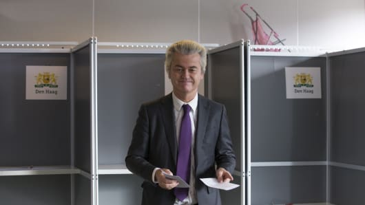 Geert Wilders, leader of the Freedom Party