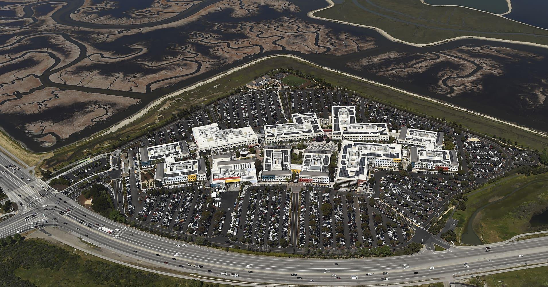 The Facebook campus in Menlo Park, California.