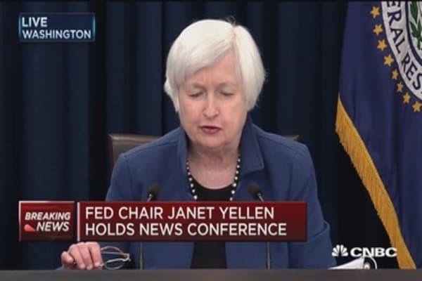 Yellen: Rate hike decision reflects economic progress