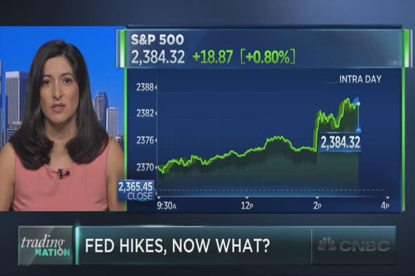 Here's what traders are watching after the Fed hike