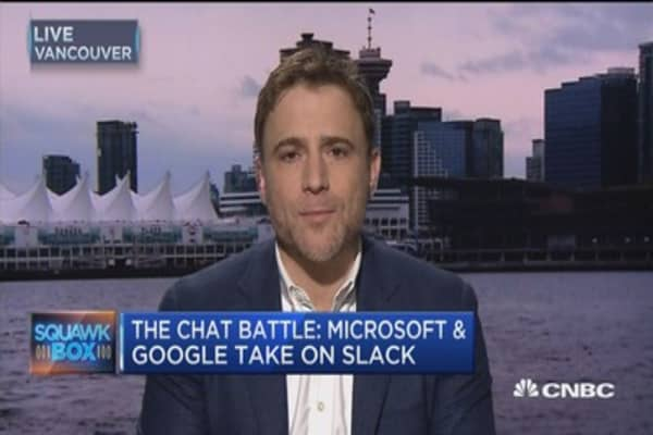 Slack CEO: Chat space will be a 'wide front battle'
