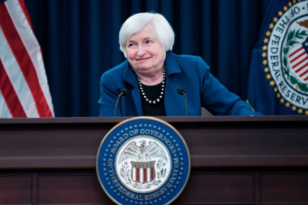Federal Reserve Board Chairman Janet Yellen speaks on March 15, 2017 in Washington, DC.