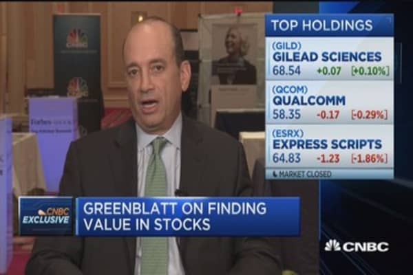 Greenblatt on finding value in stocks