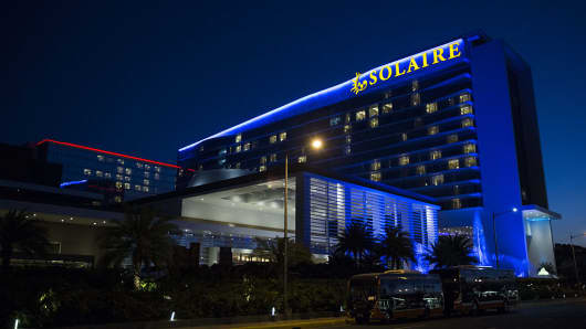 The Solaire Resort and Casino in Manila, the Philippines on May 4, 2016.