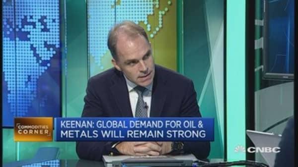 Demand for metals, oil 'pretty positive'