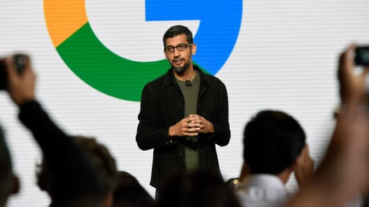 Sundar Pichai chief executive officer of Google