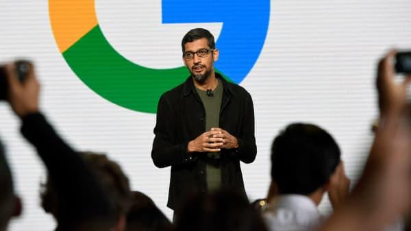 Sundar Pichai, chief executive officer of Google