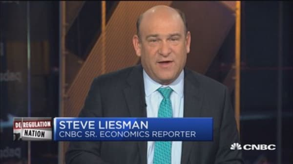 Wall Street rates regulation rollback: Liesman
