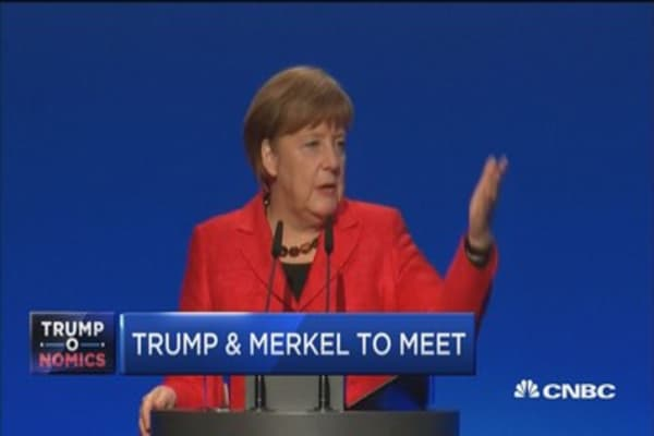 Trump-Merkel meeting will be where the 'rubber meets the road': Cramer