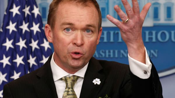 White House Office of Management and Budget Director Mick Mulvaney