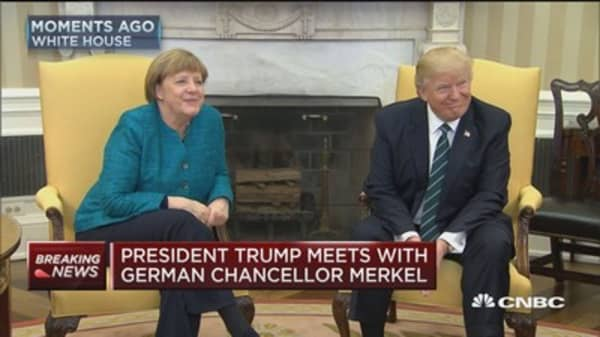 President Trump meets with German Chancellor Merkel