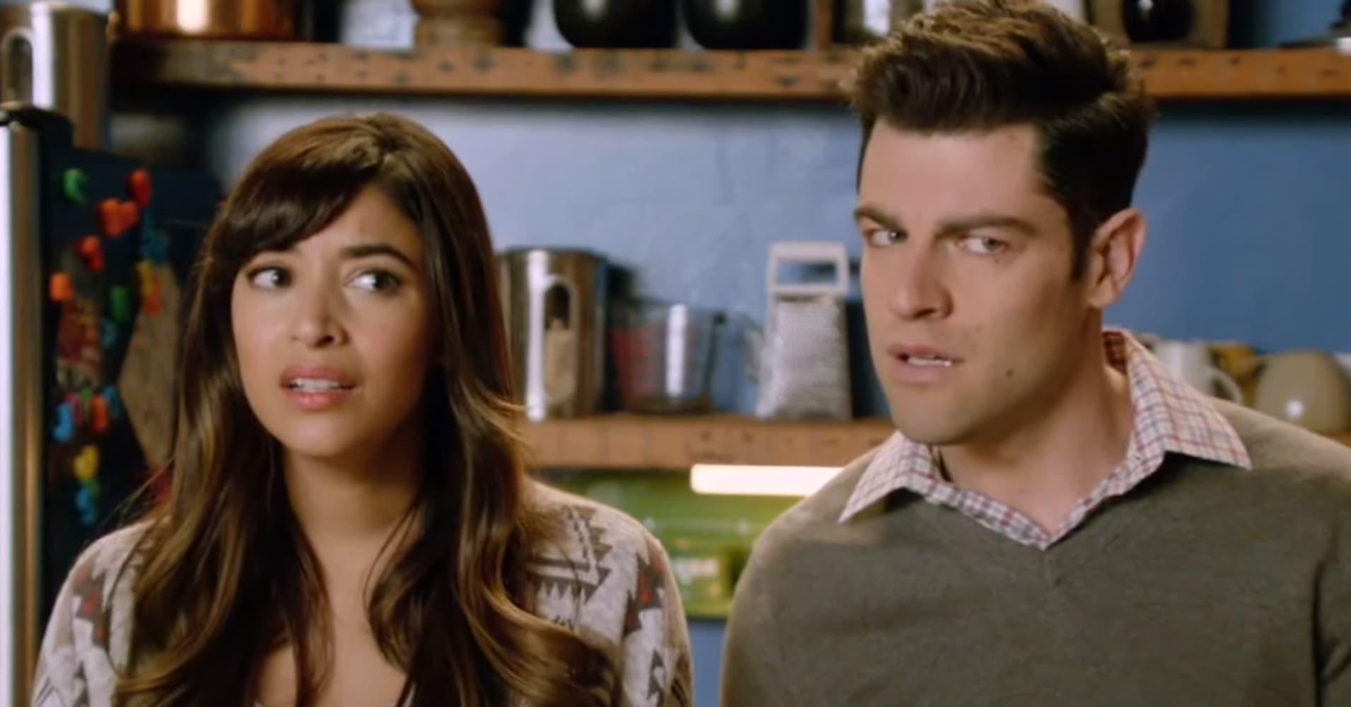 "Cece and Schmidt on FOX's ""New Girl"""