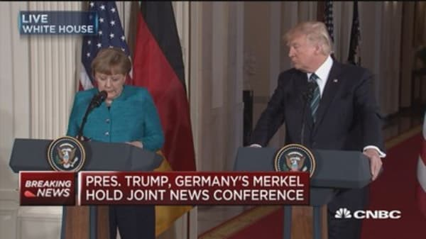 Merkel: Free trade agreements with the US has not always been popular in Germany