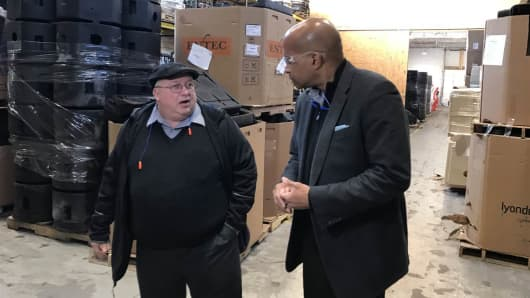 NBC News' Ron Allen interviews Marty Learn, the secondary manager at Sterling Technologies.