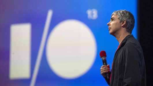 Larry Page, co-founder and chief executive officer at Google Inc.