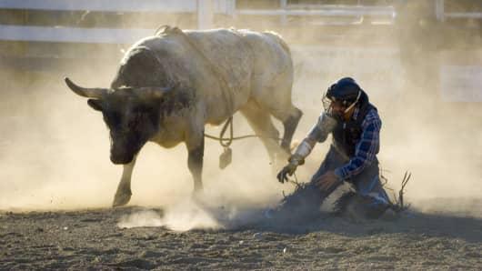 Bull rider dust up