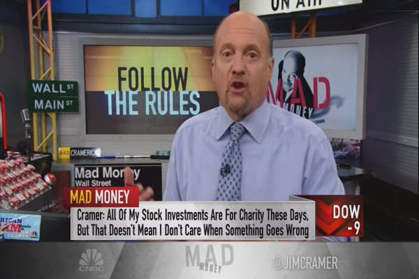 Cramer's rules to bail out when the market finally goes into correction (it will happen!)