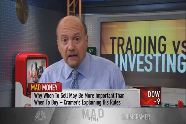 Cramer clears up the confusion on the crucial difference between trading and investing