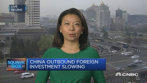 China outbound deal activity slows