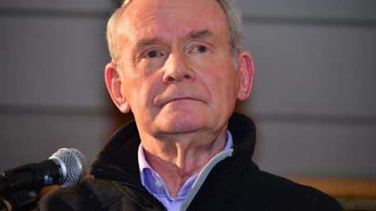 Former Deputy First Minister Martin McGuinness
