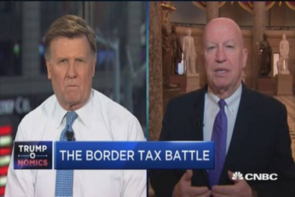 Rep. Brady: Border tax has become a 'given'