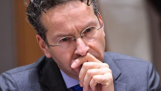 Eurogroup President and Dutch Finance Minister Jeroen Dijsselbloem