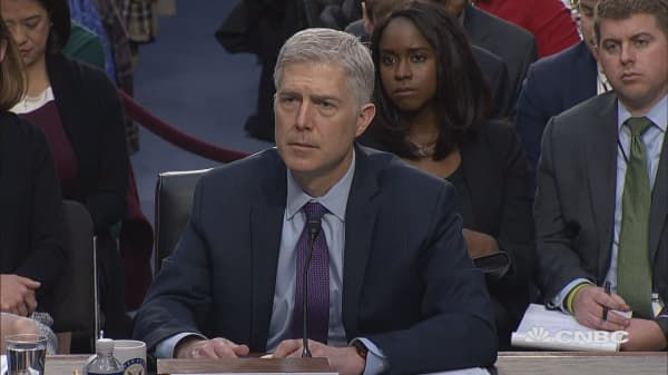 Gorsuch faces travel ban questions at confirmation hearing
