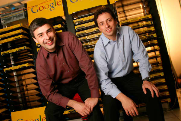 Larry Page and Sergey Brin in 2003.