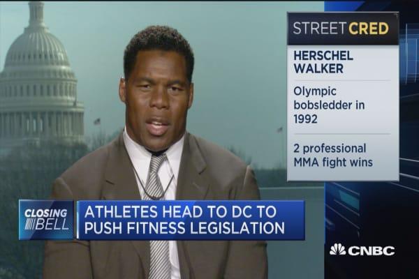 Athletes head to DC to push fitness legislation