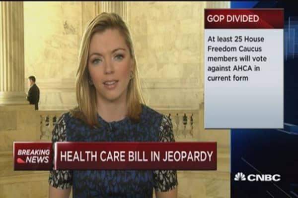 Health care bill in jeopardy