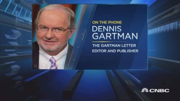 This is at least the start of a 5% correction: Gartman