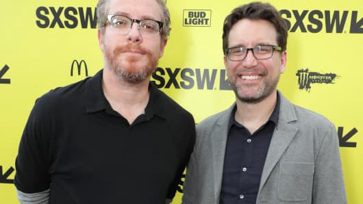 'Life' writers Paul Wernick and Rhett Reese, pictured at SXSW on Saturday, March 18.