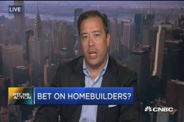 Options Action: Bet on homebuilders?
