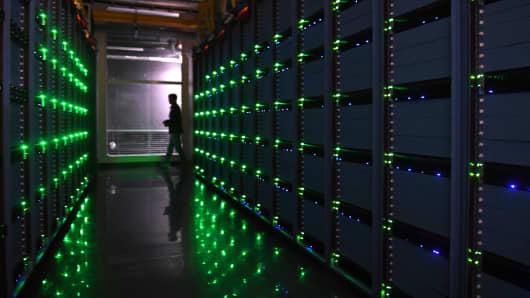 Inside a data center.