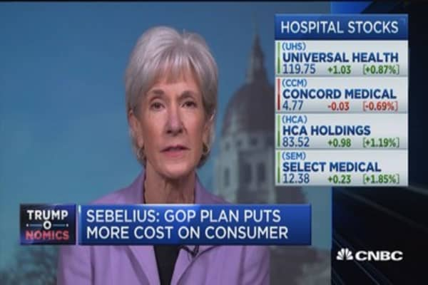 AHCA is freedom for insurance companies, not individuals: Sebelius