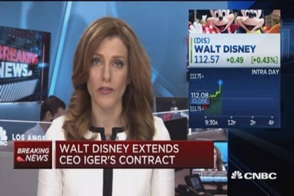 Walt Disney extends CEO Iger's contract
