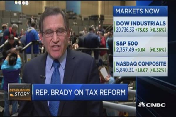 Rep. Brady: Border adjustment tax has big benefits