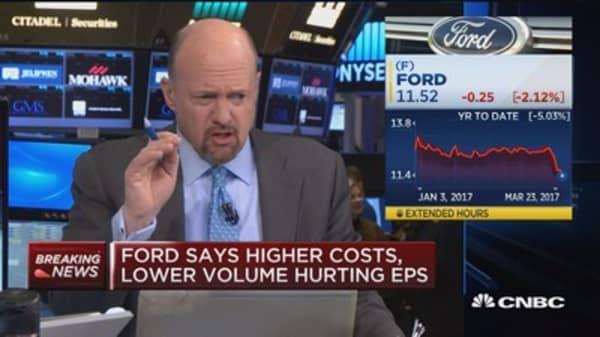 Cramer: I'd buy GM off of Ford warning