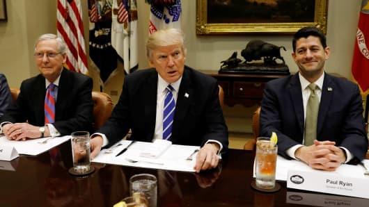 Dollar sinks on Trump healthcare blow