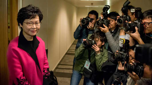 Hong Kong's Carrie Lam.