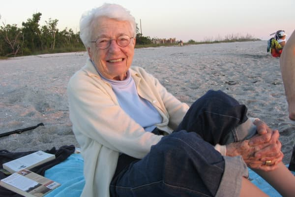 Grandma on a beach