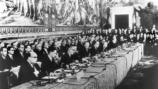 TRAITE DE ROME INSTITUANT LA CEE ET L'EURATOM 1957